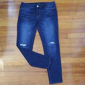 White House Black Market Destructive Skinny Jean's